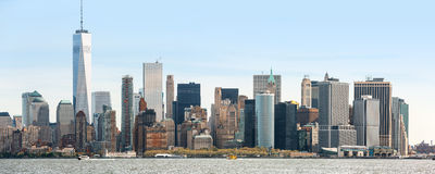 View of Manhattan skyline in NYC. Sunny day in New York. View of Manhattan skyline in NYC, USA Royalty Free Stock Photo