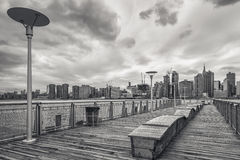 View on Manhattan skyline over the East River Stock Image