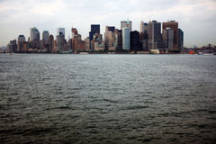 View of Manhattan from a Staten Island ferry Stock Image