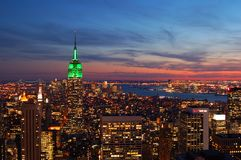 View of Manhattan at Sunset royalty free stock photography