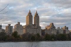 View of Manhttan buildings from Central Park, New York. Photo shot from inside Central Park in New York Royalty Free Stock Photos
