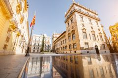 Valencia city in Spain. View on the Manises sqaure at the old town of Valencia city in Spain Stock Photos