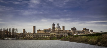 View of Mantova city, Italy Stock Photography