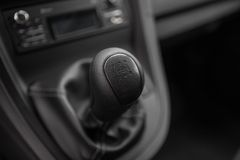 View of the manual gearbox Stock Photos