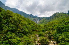 View of many moutain and waterfall from Sapa ,vietnam Stock Photo