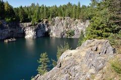 View of Marble canyon. Ruskeala, Karelia Royalty Free Stock Photo