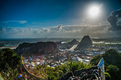View from the Marble mountains, Da Nang Royalty Free Stock Image