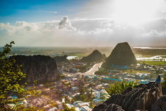 View from the Marble mountains Royalty Free Stock Photography