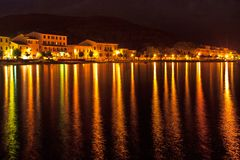 View of Marciana Marina in night Stock Photo