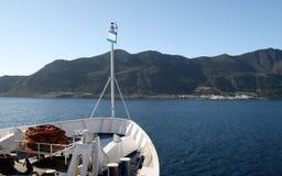 View of Marettimo. Travel by ship ... destination Marettimo Egadi Islands (Sicily Stock Photos