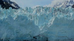 View of Margerie Glacier at Glacier Bay National Park, Alaska. USA stock footage