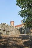 View of the Marianne Wilhelmine Oranska Palace in Kamieniec Zabkowicki, Poland. Royalty Free Stock Image