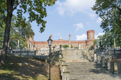 View of the Marianne Wilhelmine Oranska Palace in Kamieniec Zabkowicki, Poland. Palace was built in the second half of the nineteenth century Stock Photography