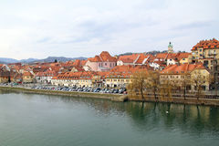 View of Maribor city Stock Photography