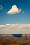 View from Maricopa Point to the Grand Canyon to North Rim, shado. W of clouds on the rock face Royalty Free Stock Photography