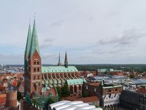 View of the Marien church in Luebeck Stock Photo