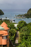 View of Marigot Bay in St Lucia Royalty Free Stock Photo