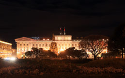 View of the Mariinsky Palace autumn night. St. Petersburg, Russia Stock Photo