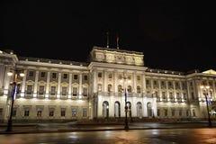 View of Mariinsky Palace at night Royalty Free Stock Photos