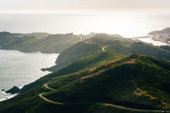 View of the Marin Headlands from Hawk Hill  Royalty Free Stock Image
