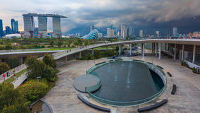 View from Marina Barrage #2. City view from Marina barrage Singapore stock images