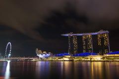 Marina bay at night, urban landscape of Singapore Stock Images