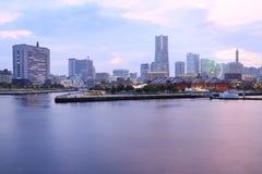 View of marina bay at night in Yokohama City Royalty Free Stock Image
