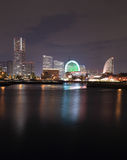View of marina bay at night in Yokohama City Royalty Free Stock Photos