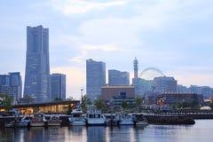 View of marina bay at night in Yokohama City Royalty Free Stock Photography