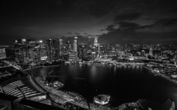 The Marina Bay Sands royalty free stock image