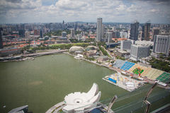 View from Marina Bay Royalty Free Stock Photos