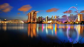 View of Marina Bay Singapore Stock Photo