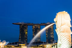 View of Marina Bay Singapore. Landscape of Singapore and view of Marina Bay Royalty Free Stock Images