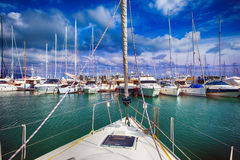 View of a marina boat Stock Photography