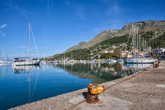 View of a marina boat Stock Images