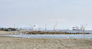 view of marina di carrara harbour Royalty Free Stock Image