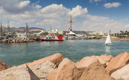View on the marina of Eilat, Israel Royalty Free Stock Photography