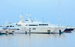 Luxury boats. Luxury boat in the marina Royalty Free Stock Image