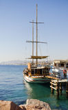 View on marina with moored yacht in Eilat, Israel Stock Photography