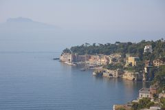 View of marina ofl small town on the island Italy Royalty Free Stock Photo