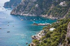 View of Marina Piccola on Capri Island Royalty Free Stock Photography