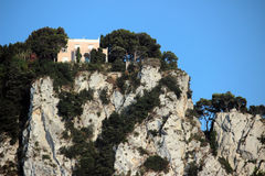 View from Marina Piccola harbour, Capri, Italy Royalty Free Stock Image