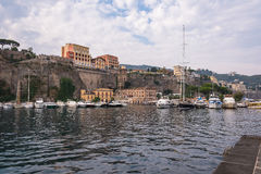 View of Marina Piccola in Sorrento. In Italy Stock Images
