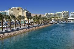View on marina and promenade in Eilat, Israel Stock Photography