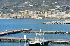 Views of the seafront in the Gulf of Salerno Royalty Free Stock Images
