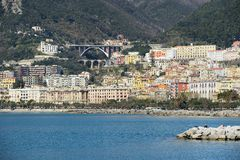 Views of the seafront in the Gulf of Salerno Stock Images