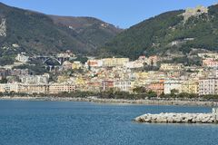 Views of the seafront in the Gulf of Salerno Stock Photography
