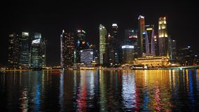 Singapore by night royalty free stock photography