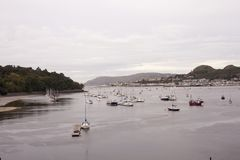 View of marina situated in uk with many ships Stock Photography