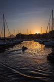 View of marina sunset Royalty Free Stock Image